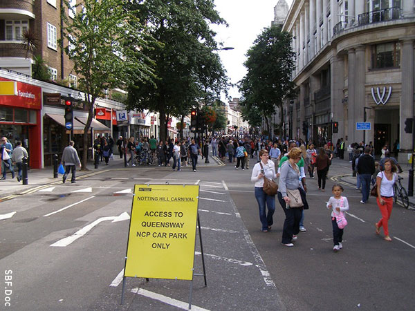 Pedestrians only at Notting Hill