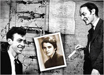 Francis Crick, James Watson and Rosalind Franklin