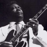 BB King, performing in the 1980s