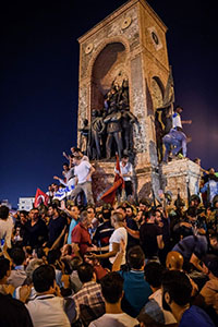 People at Taksim Square