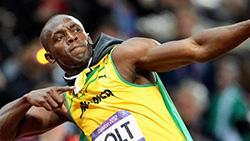 Usain Bolt won triple triple gold medals