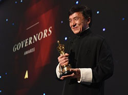 Jackie Chan won honorary Oscar