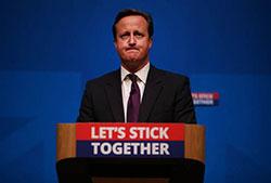 David Cameron resigned