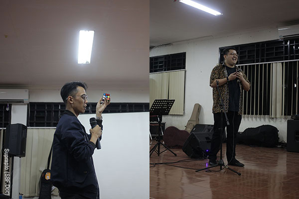 Stand up comedy sessions by Garry Poluan and Ario Kiswinar Teguh